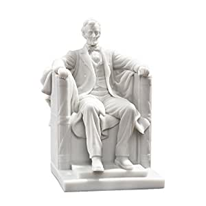 Design Toscano Abraham Lincoln Memorial, Figur aus kunstharzgebundenem Marmor