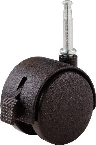 Shepherd Hardware 9578 2-Inch Office Chair Caster, Twin Wheel with Brake, 5/16-Inch Stem Diameter, 75-Lb Load Capacity