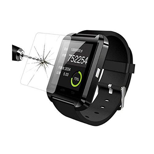 hongfei Protectores de pantalla de vidrio templado 9H para reloj inteligente U80, protector de película a prueba de explosiones curvo para reloj inteligente U80 Wrap Watch