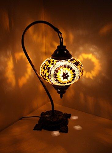 Gold-mosaik-tisch-lampe (Mosaik - Stehlampe L Tischlampe Mosaiklampe Gold Samarkand-Lights)