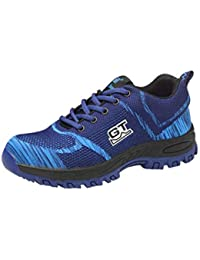 hibote Mujer Hombre Zapatillas de Seguridad Deportivos con Puntera de Acero Zapatos de Trabajo Entrenador Unisex Zapatillas