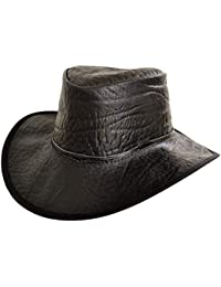African Buffalo Print Leather Hat Fly Band 9bd065e1cf0c