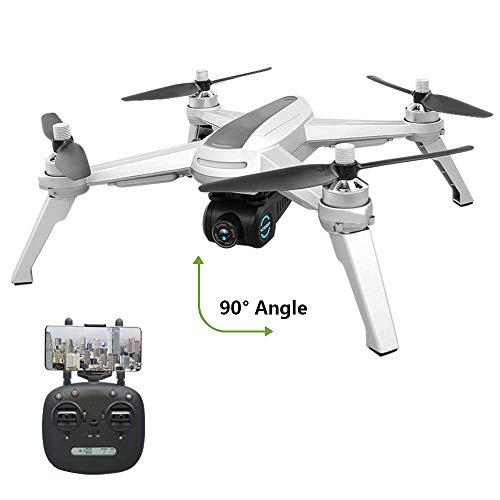 OMZBM Aktualisierung FPV GPS Drohne mit 1080P 90°Drehen Kamera,GPS RC Drohne,Live-Video,Multifunktional 5G-WiFi RC Quadrocopter mit Brushless-Motoren für Actionkamera und Experte -