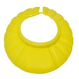 Amison Einstellbar Shampoo Dusche Baden Schützen Weich Kappe Hut für Baby (Gelb)
