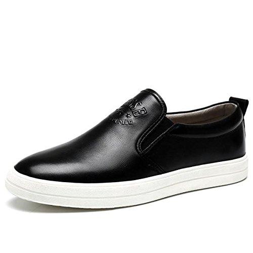 Chaussures en cuir hiver automne fashion tendance mocassins en cuir véritable occasionnelle personnalité pour hommes
