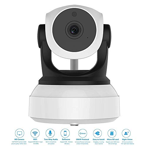 Mengen88 WiFi-IP-Kamera High-Definition Wireless Network Camera mit Infrared Night Vision Function Voice Intercom Support Smart Phone, Tablet, Desktop Computer Intercom-desktop