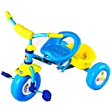 GoodLuck Baybee - Children Plug And Play Sudo Flower Designs On Wheels Tricycle Kid's For 2-4 Years Baby Trike Ride On Outdoor | Suitable For Babies,Boys & Girls - (Blue)