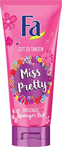 Fa Duschgel Girl Power Collection Miss Pretty mit blumigem Duft, 200 ml