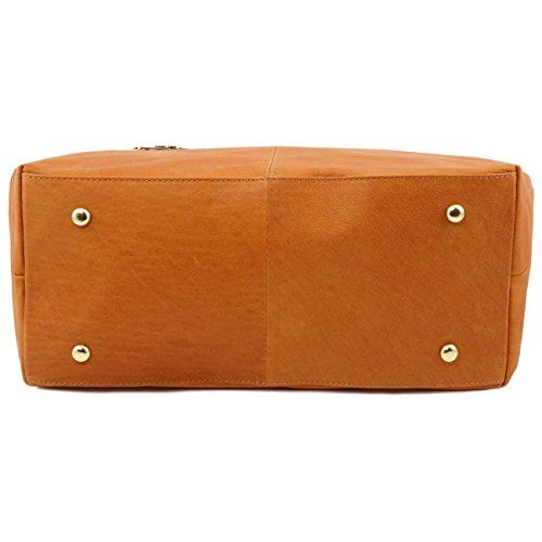 Tuscany Leather TL KeyLuck - Borsa donna in pelle Testa di Moro Borse donna a tracolla Testa di Moro