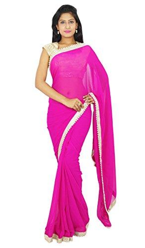 Sari boda Bollywood Partido indio étnico Use Sari diseñador del vestido Georgette
