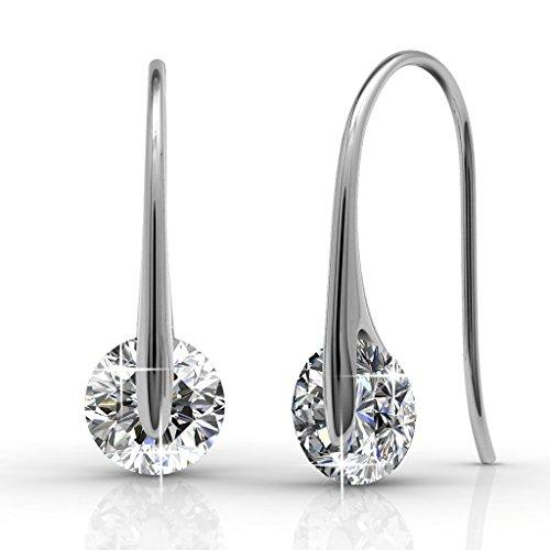 Schmuck Weissgold Ohrringe (Kristall aus SWAROVSKI - Schmuck - Ohrstecker - Ohrringe)