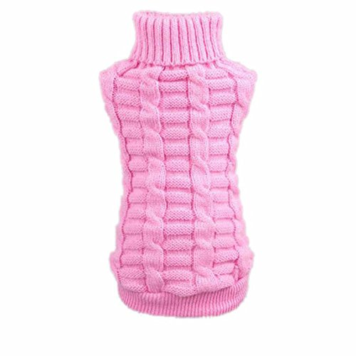 Culater Moda Cane Vestiti Invernali Tridimensionale Maglione Cucciolo Vestiti Di Lana (XS, Rosa)