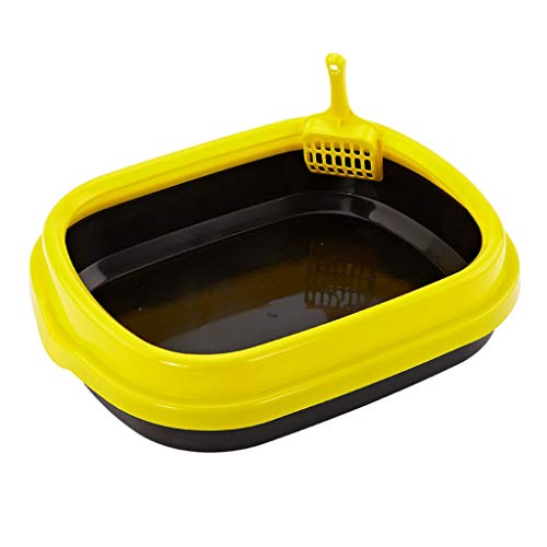Jlxl Katze Wurf Tablett Haustier Becken Öffnen Toilette Waschen Urinal Platz Sand Schüssel (Farbe : B) -