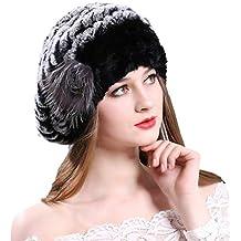 Amazon.it  cappello con pelliccia di coniglio - Nero d4ec3b4ab587