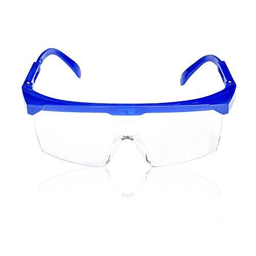 Gafas protección gafas seguridad marco azul lente