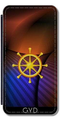 Custodia in PU Pelle per Samsung Galaxy J7 2016 (SM-J710) - Ruota Del Dharma by hera56