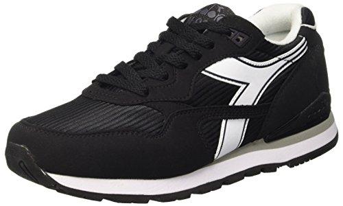 Diadora N-92, Chaussures Basses Unisexes Pour Adulte Noir (noir / Blanc)