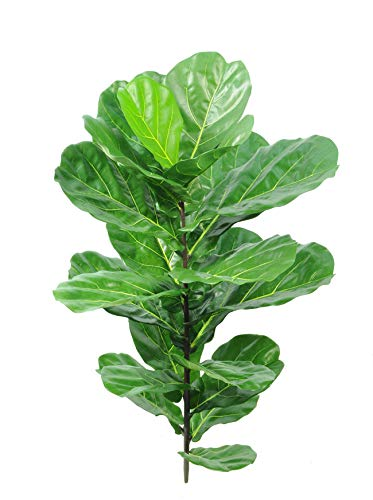 artplants Set 4 x Kunst Ficus Lyrata Ezra auf Steckstab, crossdoor, grün, 110cm – Kunststoff Baum/Deko Geigenficus