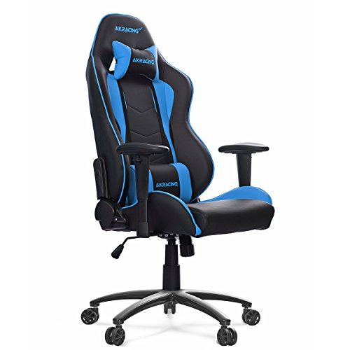 Best AK Racing Nitro Gaming Chair, Faux Leather, Black/Blue