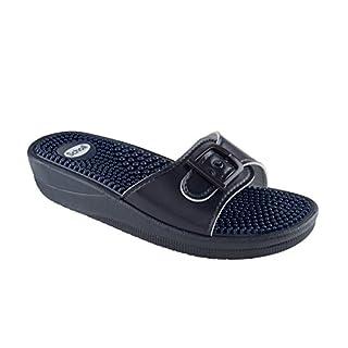 Scholl Size 37 Navy Blue New Massage Fitness Sandals