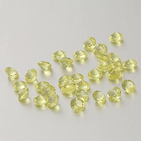 5000Pcs 4.5Mm Acrylic Clear Faux Round Diamond Crystals Treasure Gems for Table Scatters, Vase Fillers, Event, Arts & Crafts, Birthday Favors, Wedding Decorations (LIGHT YELLOW)