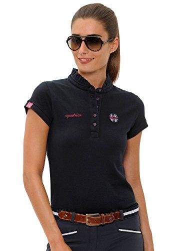 SPOOKS Poloshirt Damen Mädchen Kinder, Polo Shirt tailliert Sommer Tshirt Hemd Sport - Damenpoloshirts Kurzarm Viola - Navy L