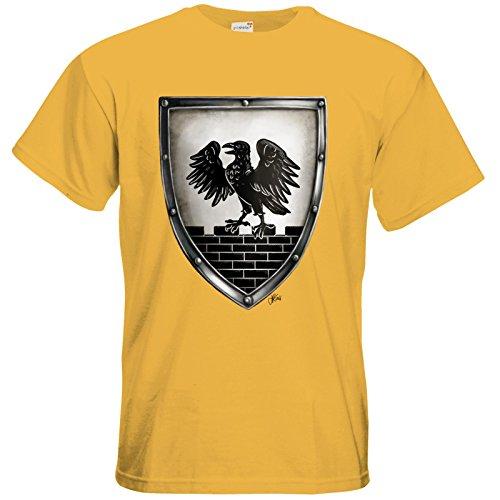 getshirts - Das Schwarze Auge - T-Shirt - Die Siebenwindküste - Wappen - Winhall Gold