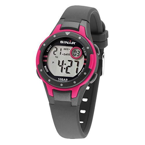 SINAR Mädchen-Armbanduhr Sportuhr Outdoor Fitness digital Quarz 10 Bar wasserdicht XE-52-8