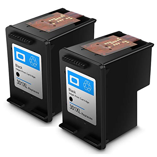 Renewed Ink Cartridge HP 301 HP301 XL High Performance Ink Cartridges (2 Black)
