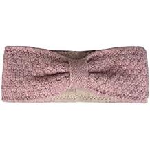 Zwillingsherz Stirnband mit Schleife - Hochwertiges Strick-Kopfband für Damen Frauen Mädchen - Mit Fleece - Wolle - Ohrenschutz - Haarband - warm und weich für Herbst Winter und Frühjahr