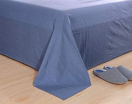 F-JIUJIN, 100% Baumwolle einfarbig flach bettlaken einteilig Hause bettwäsche für Kinder Erwachsene Studenten Twin Full Queen (Color : Royal Blue, Size : 240x270cm 1pc) (Royal Queen Blue Bettwäsche)