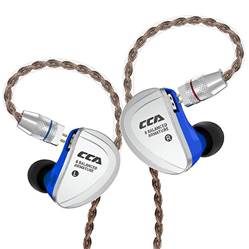 CCA C16 8BA In-Ear-Kopfhörer mit abnehmbarem 2-poligem Kabel NO MIC (Symmetrisches Kabel Line)
