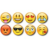 Smartcraft Emoji Magnets (8Pc Magnets), Emoticon Fridge Magnets, Set of 8 Smiley Emoji Magnets
