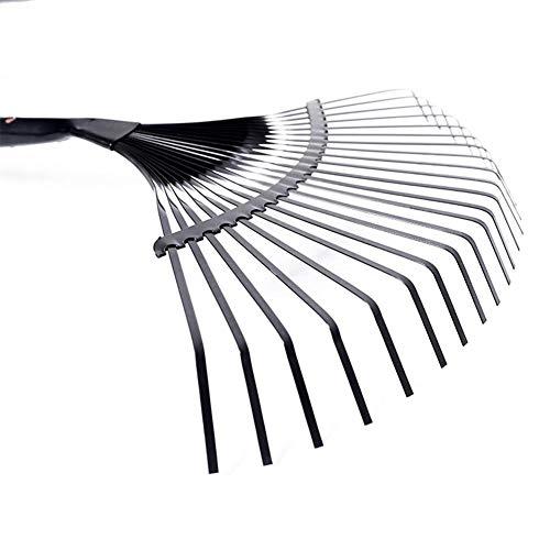 Dent réglable de râteau de feuille de jardin 22, tête de pliage professionnelle de râteau de pelouse en métal incline la tête