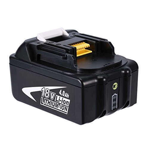 Rechargeable Batterie, 18V 36V 4.0 Ah Akku wiederaufladbare Batterie Ersatz für Makita BL1830 BL1830B BL1840 BL1840B BL1850 BL1850B BL1860 BL1860B Lithium Lonen Batterie Newest Power Chip, Slide Batterie für Schlagschrauber / Freischneider, Kann mit dem Slide Tool Batterieladegerät aufgeladen werden, (nicht originale Marke Makita)- Topgio (4.0 Ah)