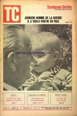 TEMOIGNAGE CHRETIEN [No 1270] du 07/11/1968