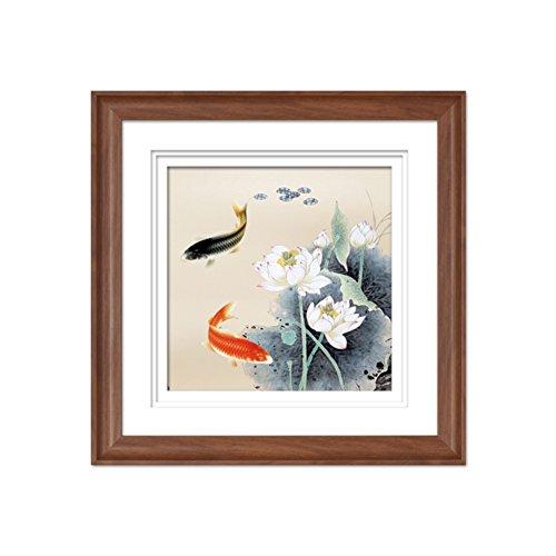 [Neun Fisch Abbildung]/Moderne neuen chinesischen Höhle Sofa Einstellung Triptychon/[Eingerahmt Malerei]/ Bild/ Fresken/ dekorative Malerei im Wohnzimmer Veranda Wandbild-C 50x50cm(20x20inch) Veranda Boden Malen