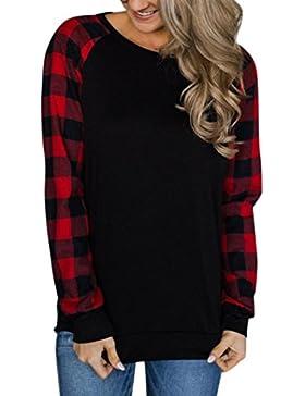 SHOBDW HOBDW Mujeres 2018 Nuevo Mujeres O-Cuello de Manga Larga Jersey Tops Blusa Camisa