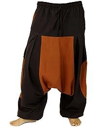 Haremshose, Pluderhose, Pumphose, Aladinhose - coffee / Männerhosen, alternative Bekleidung von Guru-Shop