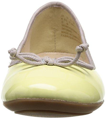 Clarks Carousel Ride, Ballerines femme Jaune (Pale Yellow Pat)