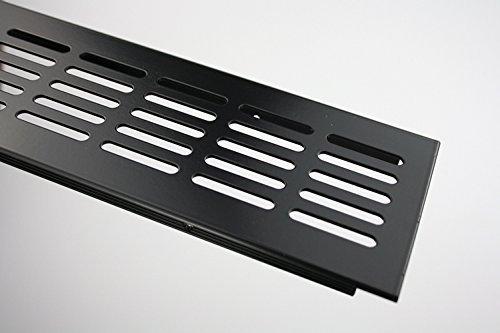 MS Beschläge ® Aluminium Lüftungsgitter Stegblech Heizungsdeckel 80mm x 200mm verschiedene Farben...