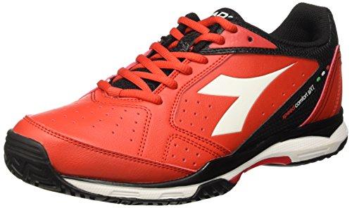 Diadora S.Comfort Sl Vi Ag, Scarpe da Tennis Uomo, Rosso (Rosso Ferrari/Bianco), 43 EU