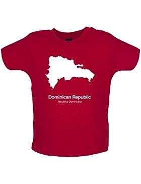 Dominican Republic / Dominikanischen Republik Silhouette - Baby T-Shirt - Rot - 12 bis 18 Monate