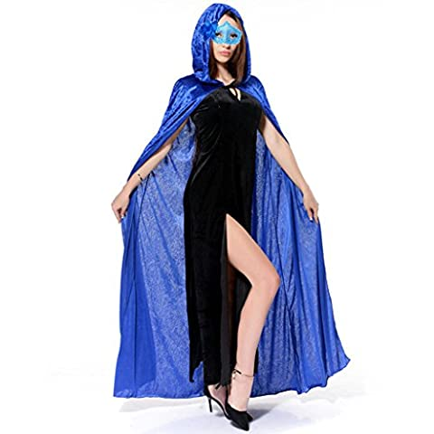 Ourlove Fashion Adult Halloween Christmas Cosplay Costume Vampire Witch Victorian Long Velvet Hooded Unisex Cape