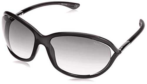 Tom Ford Damen FT0008 199 61 Sonnenbrille, Schwarz (Nero Lucido/Fumo),