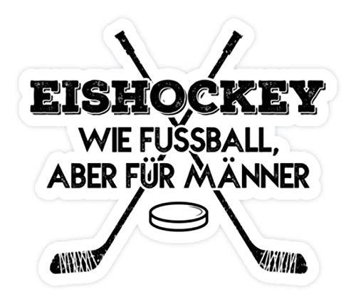 shirt-o-magic Aufkleber Eishockey: Für Männer - Sticker -Einheitsgröße-Weiß