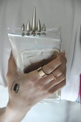 Zarapack, Damen Clutch Trasparente Transparente Transparente - Style 1
