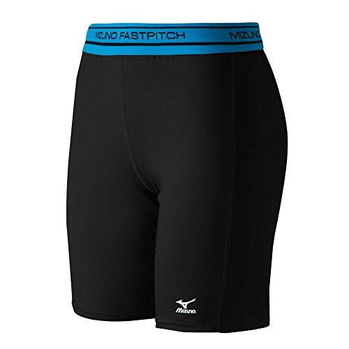 Mizuno Low Rise Kompression Schiebetür Shorts, Herren, schwarz