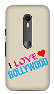 Moto G3 Designer Hard-Plastic Phone Cover from Print Opera -I Love Bollywood