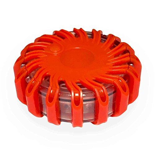 Preisvergleich Produktbild MR Goods® Warnblinkleuchte mit extra hellen LED Leuchten - Warnleuchte als Ergänzung zum Warndreieck bei Unfall Panne oder Gefahrenstellen magnetisch und wasserdicht